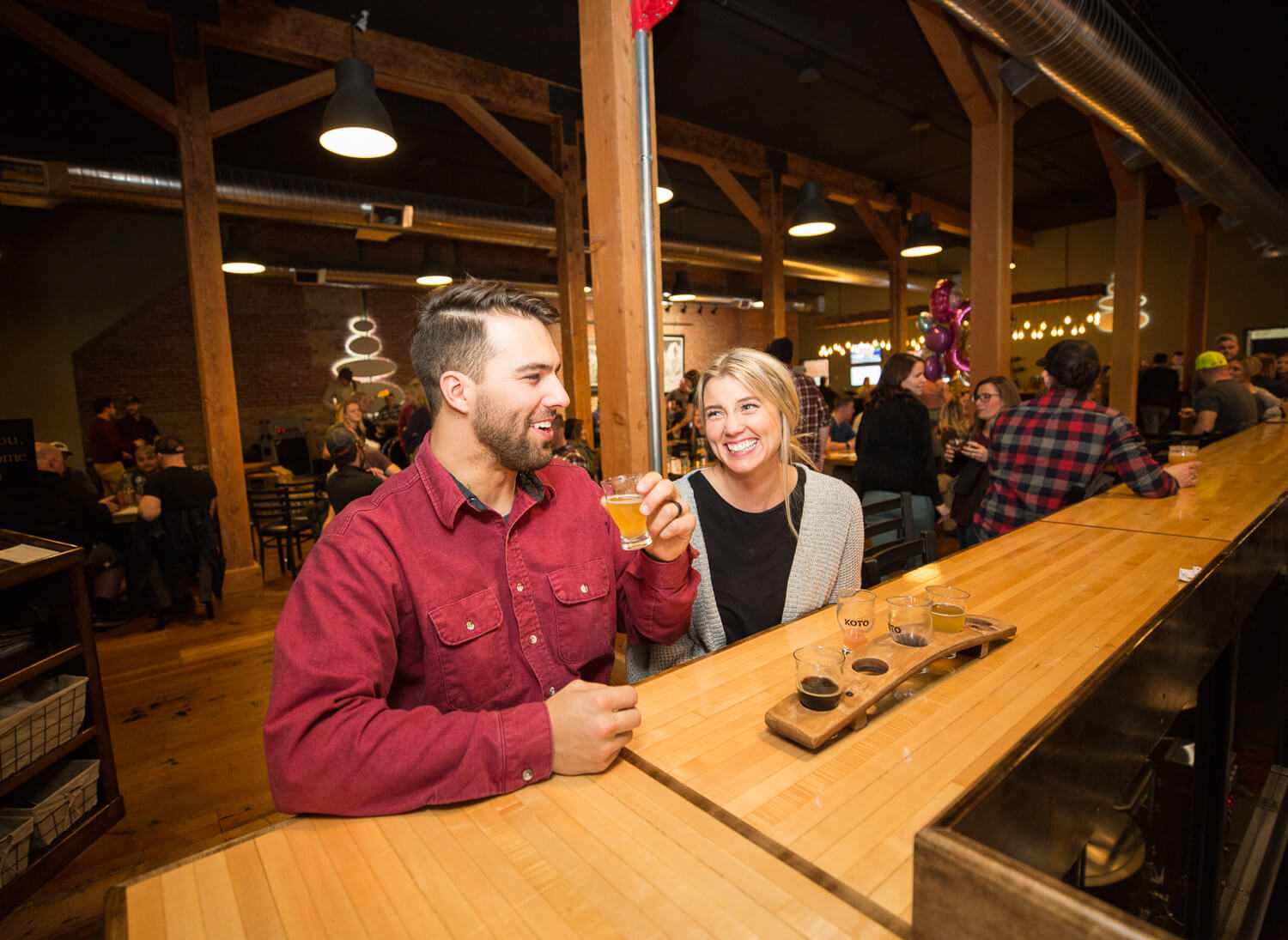 Try a flight at Koto Brewing Co. in Twin Falls. Photo Credit: Idaho Tourism.