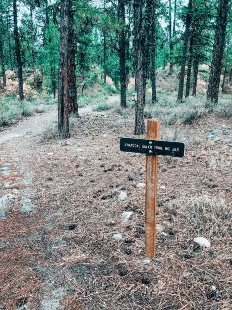 hiking trailhead sign