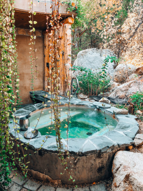 private hot pool at The Springs