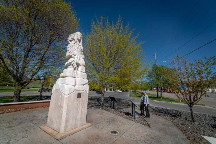 statue in downtown Pocatello