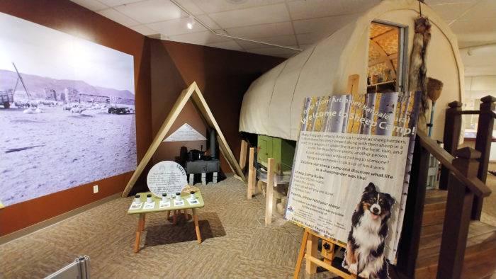 basque museum exhibit on sheepherding