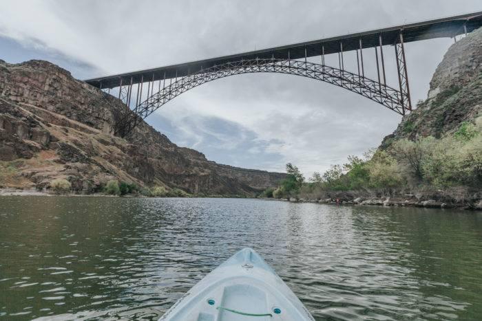 kayak and bridge