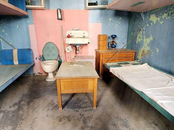 Walk inside the cells. Photo Credit: Lara Dunning.