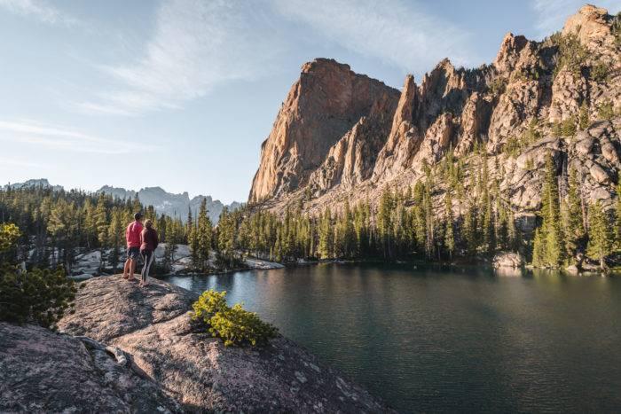 alpine mountain lake saddleback lakes