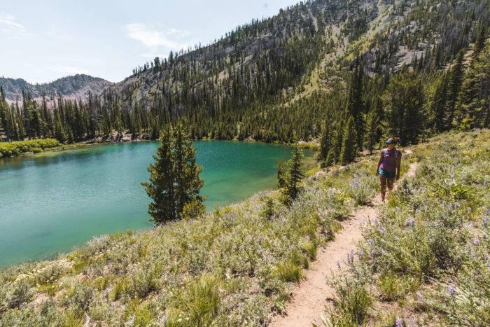 alpine mountain lake titus lake