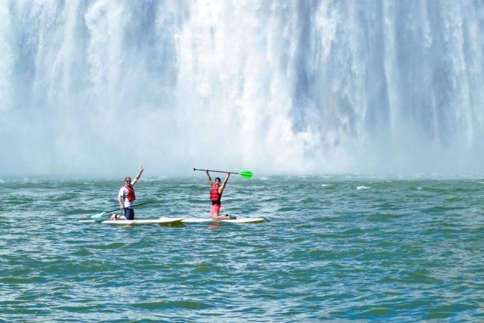 paddleboaring Shoshone Falls