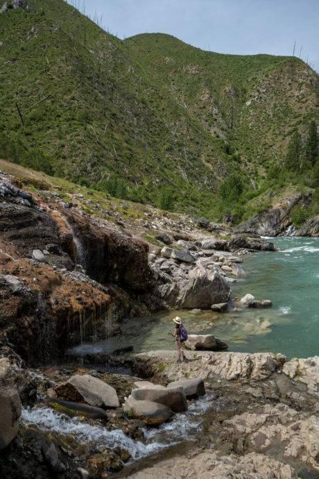 hot springs along river