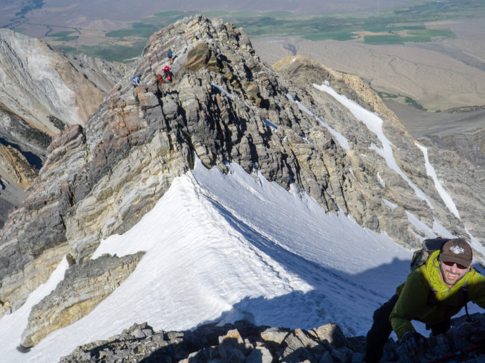Chicken Out Ridge is considered one of the most difficult parts of this climb. Photo Credit: Steve Graepel.