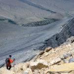 The descent has a few challenges. Photo Credit: Steve Graepel.