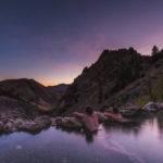 Evening views from Goldbug Hot Springs. Photo Credit: Rolling Van Creative.