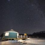 Dark skies at Castle Rocks State Park yurt. Photo Credit: Idaho Tourism.