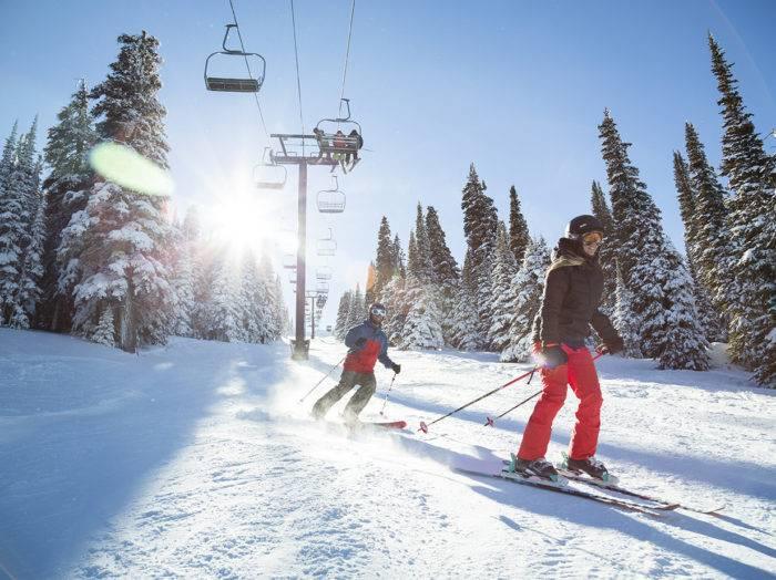 Skiing, Pomerelle Mountain Resort. Photo Credit: Idaho Tourism.