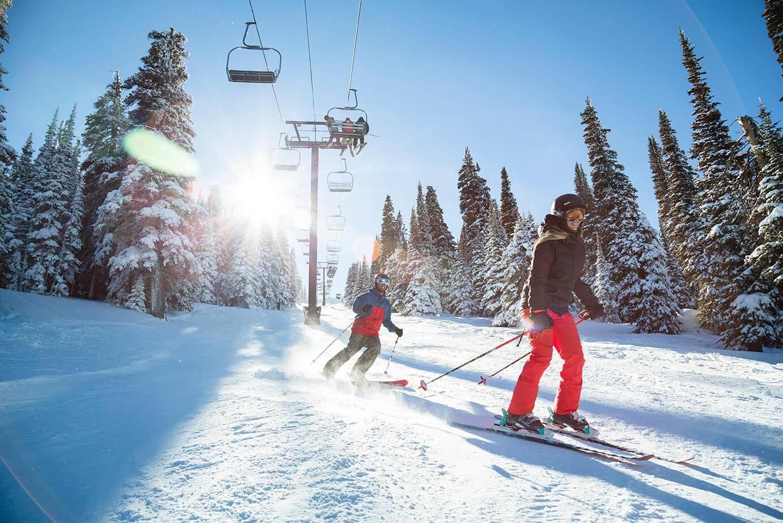 skiing at pomerelle mountain resort