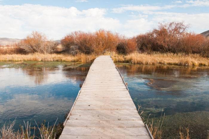 bridge over water at silver creek preserve