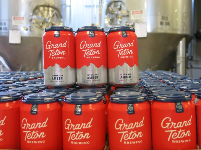 cans of grand teton brewing beer