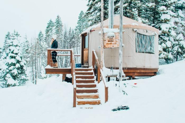 exterior silver fox yurt