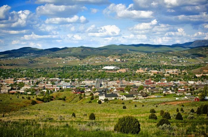 wide valley of Pocatello