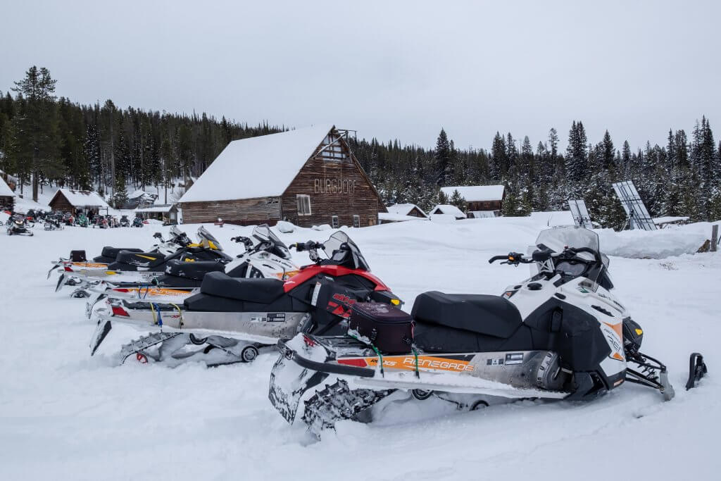 snowmobiles and burgdorf building