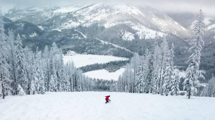 skier on slope