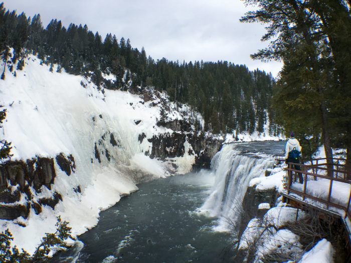 mesa falls during winter