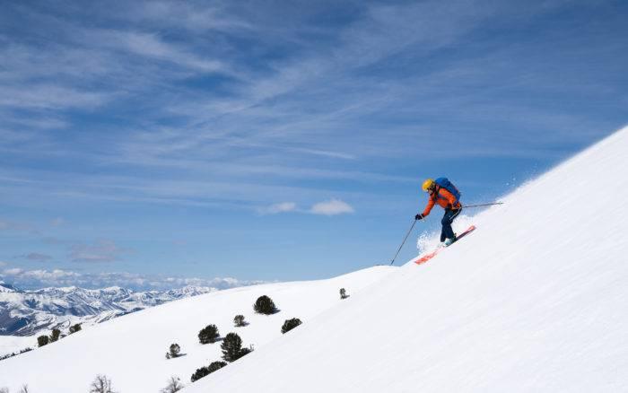 skier on ridge