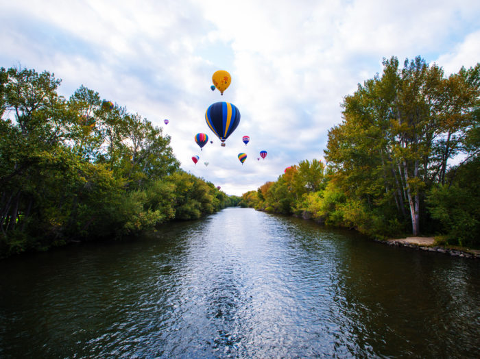 Hot Air Balloons, Boise. Photo Credit: Idaho Tourism.