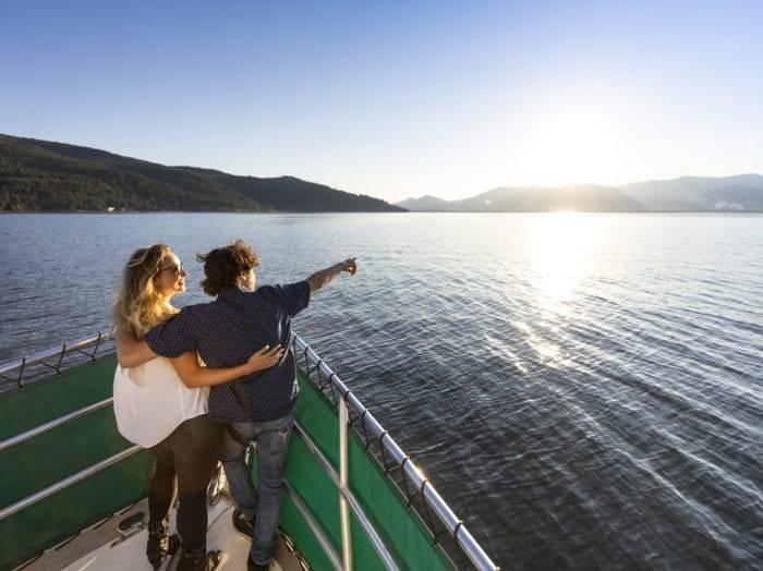 Lake cruise on Lake Pend Orielle. Photo Credit: Idaho Tourism.