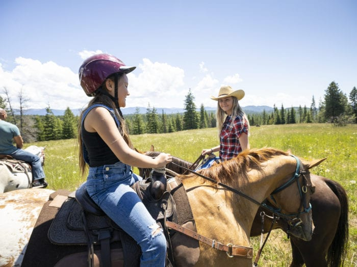 Saddle up for family fun at Western Pleasure Guest Ranch. Photo Credit: Idaho Tourism.