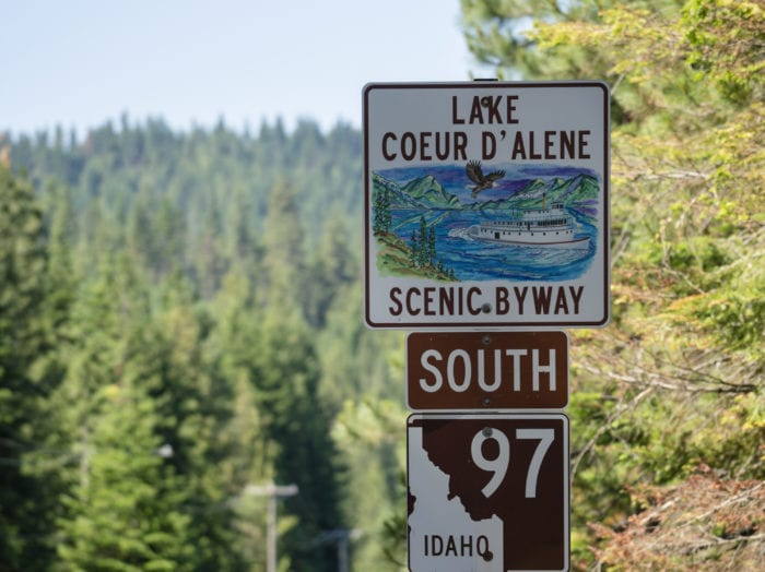 Take the scenic route to Lake Coeur d'Alene. Photo Credit: Idaho Tourism.