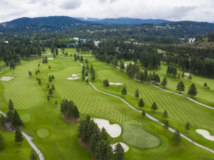 Play a round (or two!) on the Coeur d'Alene golf course. Photo Credit: Idaho Tourism.