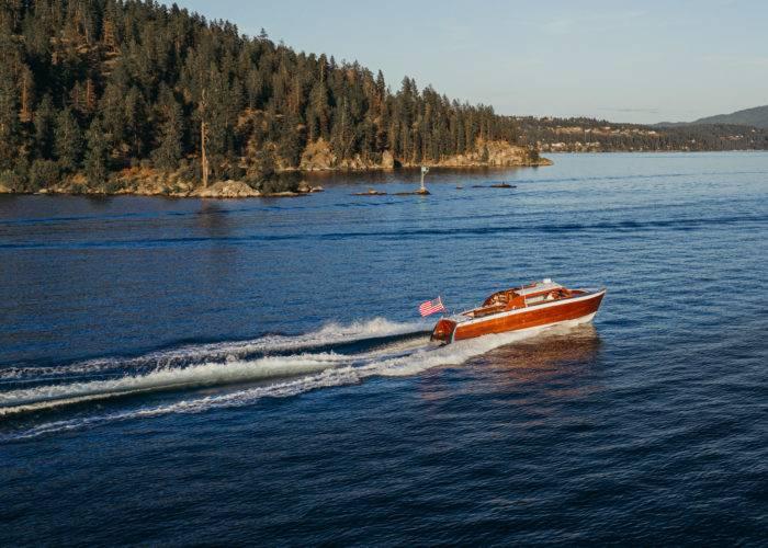 boat on lake coeur d alene