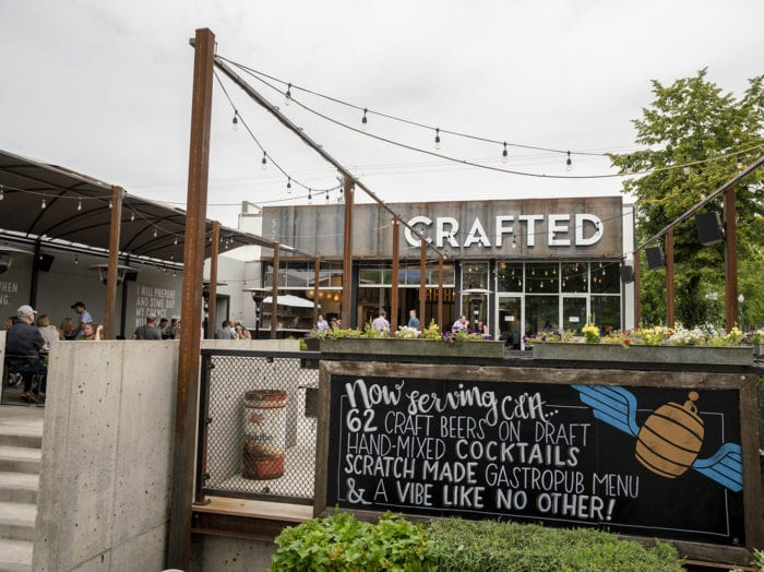 Find locally sourced beers and bites at Crafted. Photo Credit: Idaho Tourism.