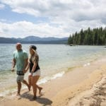 Sink your toes in the sand on the shores of Priest Lake. Photo Credit: Idaho Tourism.