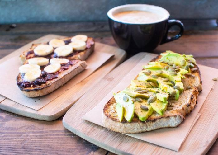breakfast toast and coffee