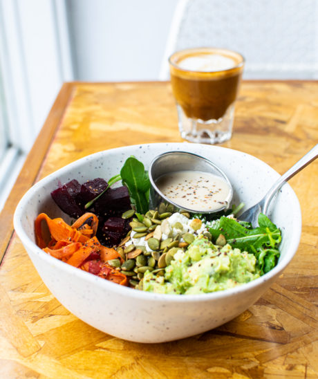 lunch bowl and espresso