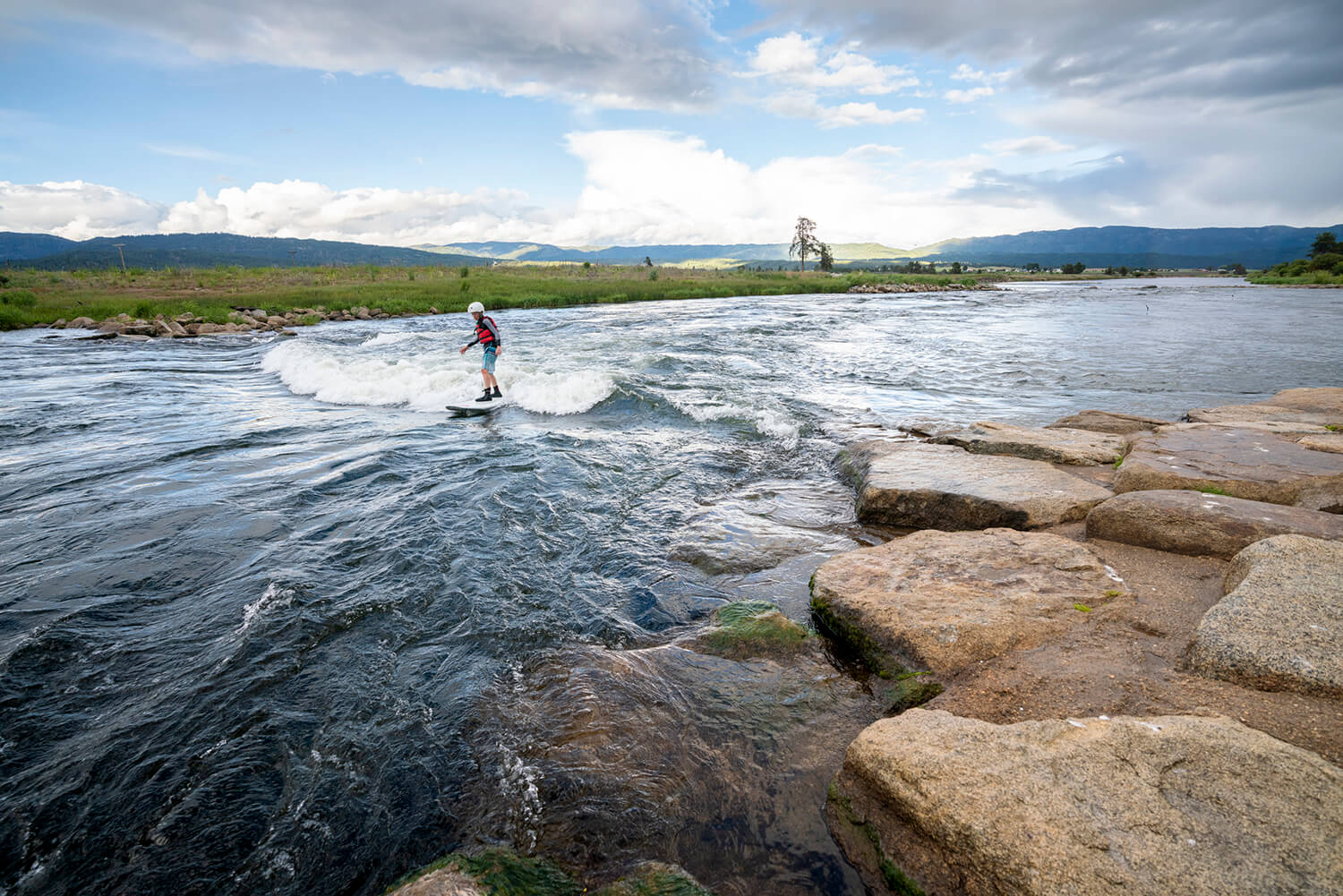 Skip the beach and get your surf on at Kelly's Whitewater Park. Photo Credit: Idaho Tourism.