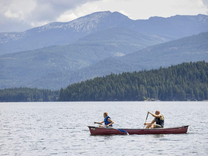 Ready your paddles and make your way across Priest Lake. Photo Credit: Idaho Tourism.