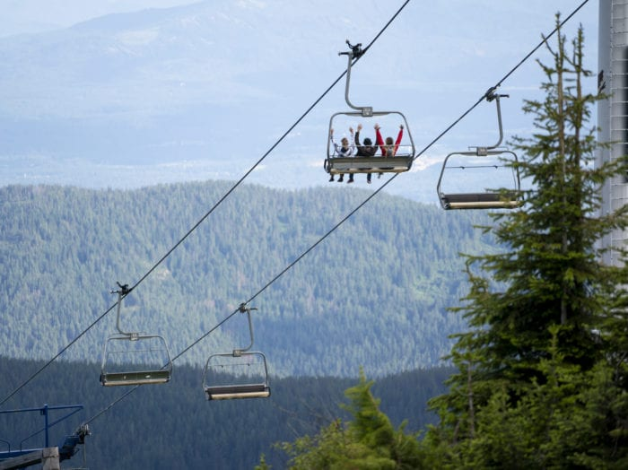 Get that bird's-eye view of Sandpoint at Schweitzer Mountain Resort. Photo Credit: Idaho Tourism.
