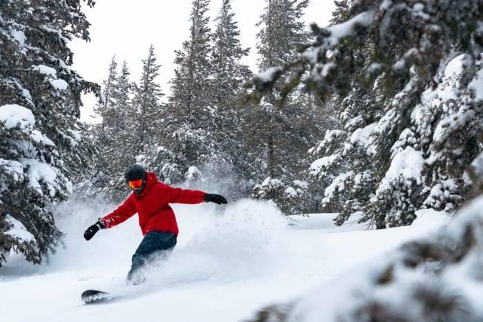snowboarder at schweitzer