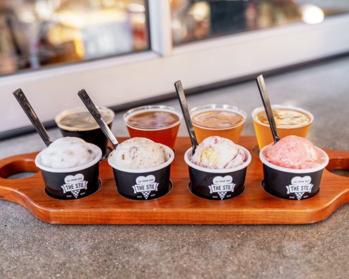 beer paired with ice cream at the stil