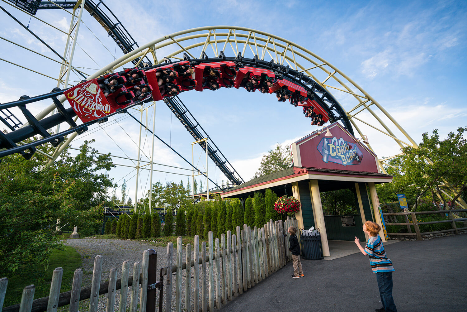 Find a variety of roller coasters at Silverwood Theme Park. Photo Credit: Idaho Tourism.