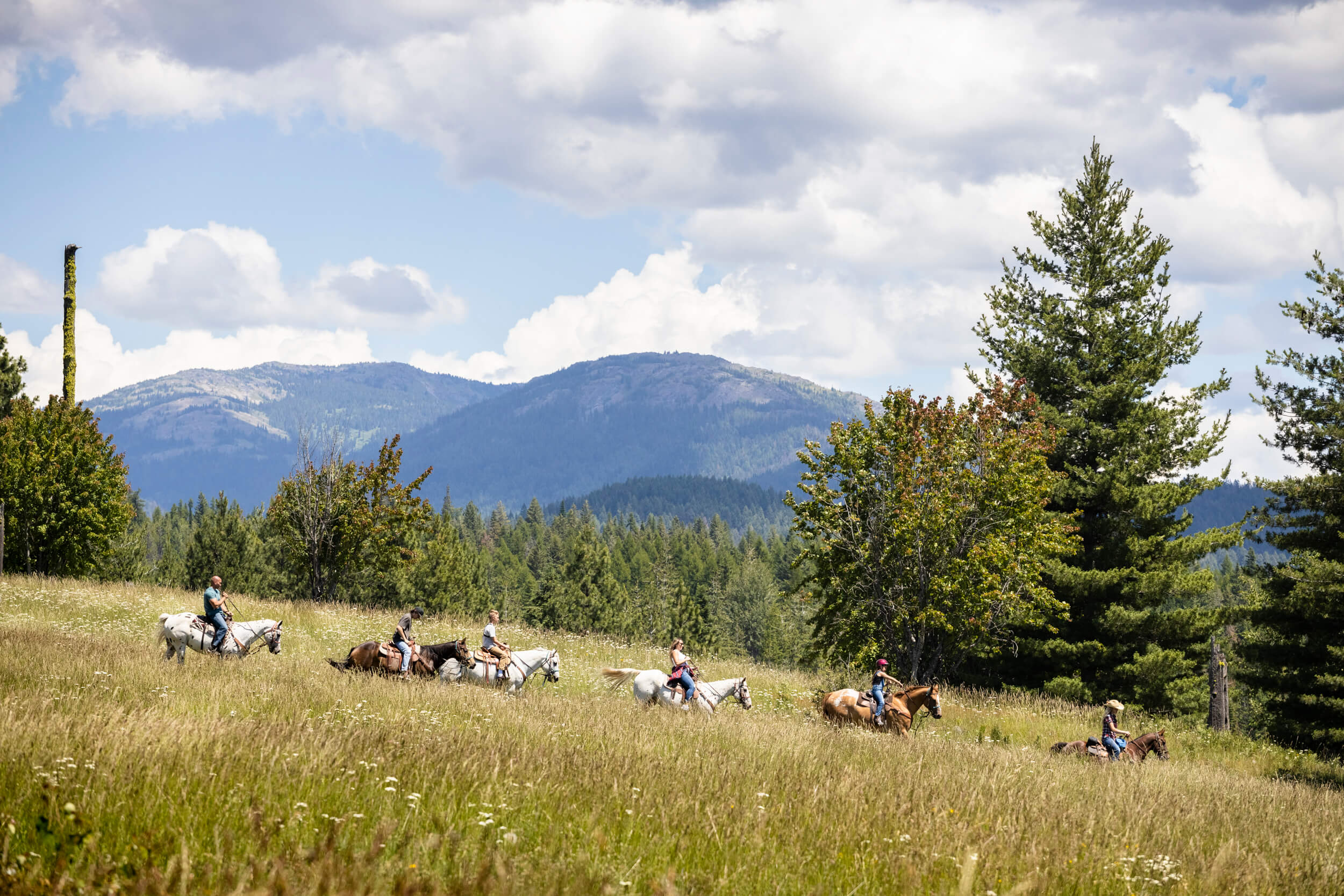 Spend the day enjoying a horseback ride at Western Pleasure Guest Ranch. Photo Credit: Idaho Tourism.