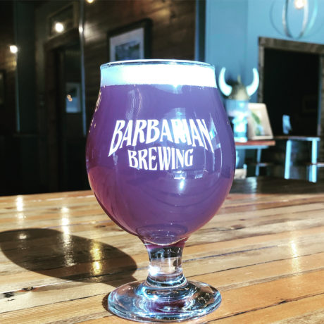 globe of purple beer