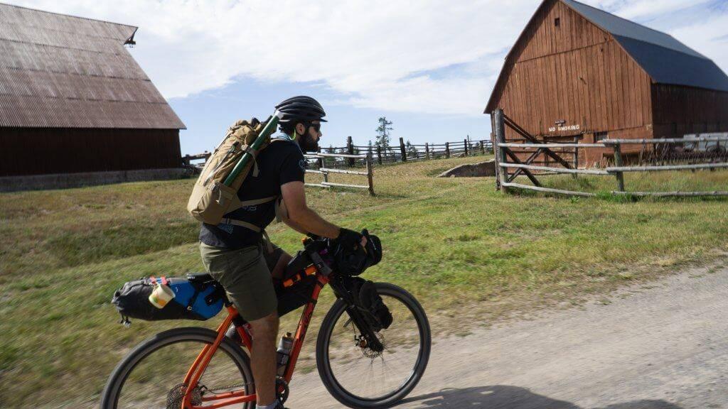 man riding bike in harriman state park