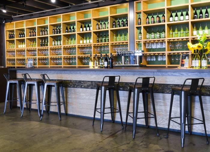 interior of wine bar