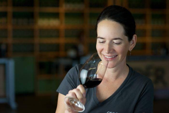 woman at cinder wines