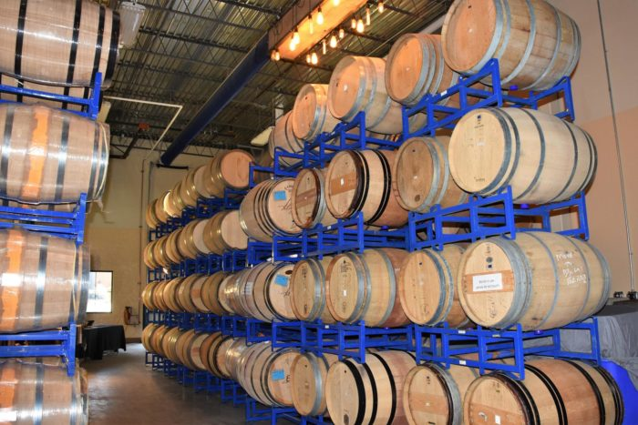 wine barrels at Telaya