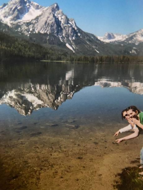 Lakeside fun with a stunning mountain backdrop in Idaho