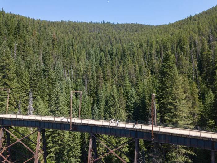 route of the hiawatha bike trail