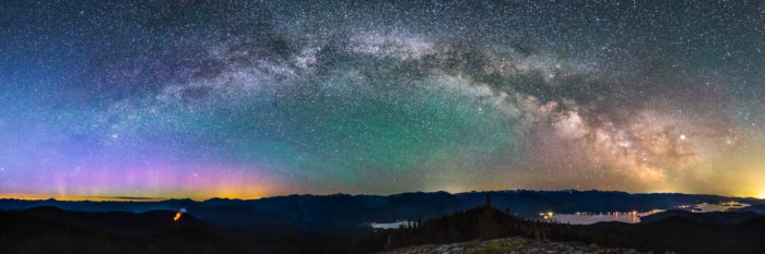 northern lights over priest lake